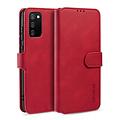 CaseMe CaseMe - Samsung Galaxy A02s Hoesje - Met Magnetische Sluiting - Ming Serie - Leren Book Case -Rood