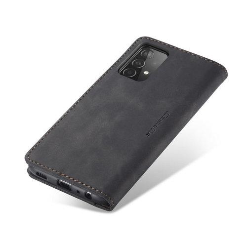 CaseMe CaseMe - Samsung Galaxy A02s Hoesje - Wallet Book Case - Magneetsluiting - Zwart