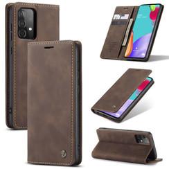 CaseMe - Samsung Galaxy A02s Hoesje - Wallet Book Caseac - Magneetsluiting - Donker Bruin