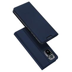 Xiaomi Redmi Note 10 hoesje - Dux Ducis Skin Pro Book Case - Donker Blauw