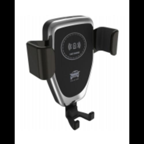 Case2go 2 in 1 Telefoonhouder auto - Draadloze autolader - Snellader 3.0 - Universeel -  10W - Ventilatierooster - Zwart