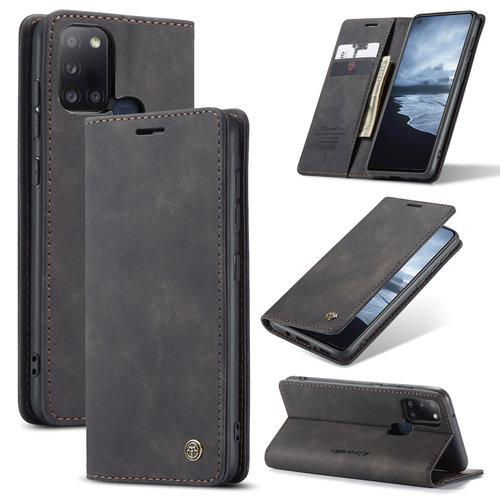 CaseMe CaseMe - Samsung Galaxy A21s hoesje - Wallet Book Case - Magneetsluiting - Zwart