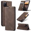 CaseMe CaseMe - Samsung Galaxy A21s hoesje - Wallet Book Case - Magneetsluiting - Donker Bruin