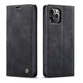 CaseMe CaseMe - iPhone 12 Pro hoesje - Wallet Book Case - Magneetsluiting - Zwart