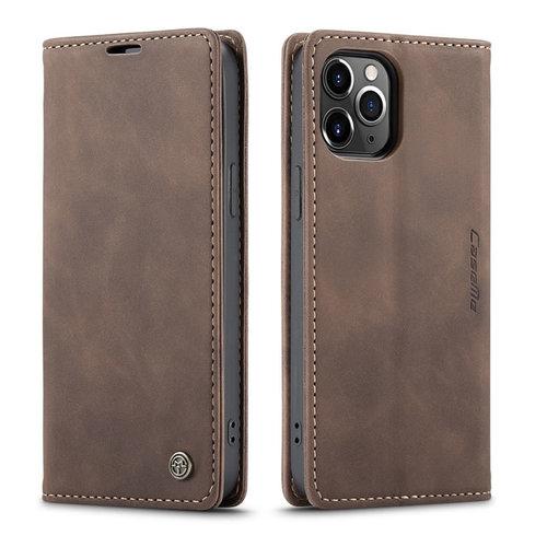 CaseMe CaseMe - iPhone 12 Pro hoesje - Wallet Book Case - Magneetsluiting - Donker Bruin