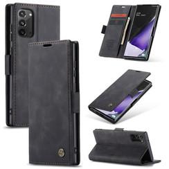 CaseMe - Samsung Galaxy Note 20 hoesje - Wallet Book Case - Magneetsluiting - Zwart