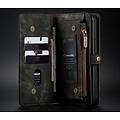CaseMe CaseMe - iPhone 12 Mini hoesje - 2 in 1 Wallet Book Case - Zwart