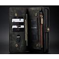 CaseMe CaseMe - iPhone 12 Pro Max hoesje - 2 in 1 Wallet Book Case - Zwart