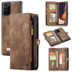 CaseMe - Samsung Galaxy Note 20 Ultra hoesje - 2 in 1 Wallet Book Case - Bruin