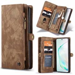 CaseMe - Samsung Galaxy S20 FE hoesje - 2 in 1 Wallet Book Case - Bruin