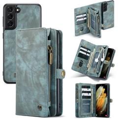 CaseMe - Samsung Galaxy S21 Hoesje - 2 in 1 Back Cover - Blauw