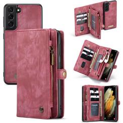 CaseMe - Samsung Galaxy S21 Plus Hoesje - 2 in 1 Back Cover - Rood