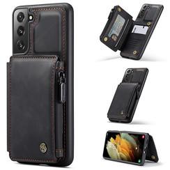 CaseMe - Samsung Galaxy S21 Plus Hoesje - Back Cover - met RFID Pasjeshouder - Zwart