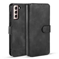 CaseMe - Samsung Galaxy S21 Hoesje - Met Magnetische Sluiting - Ming Serie - Leren Book Case - Zwart