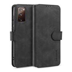 CaseMe - Samsung Galaxy S20 FE Hoesje - Met Magnetische Sluiting - Ming Serie - Leren Book Case - Zwart