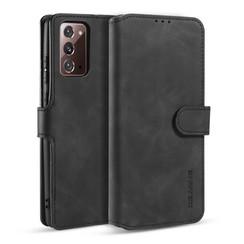 CaseMe - Samsung Galaxy Note 20 Hoesje - Met Magnetische Sluiting - Ming Serie - Leren Book Case - Zwart