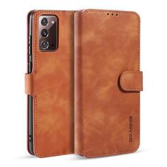 CaseMe - Samsung Galaxy Note 20 Hoesje - Met Magnetische Sluiting - Ming Serie - Leren Book Case - Licht Bruin