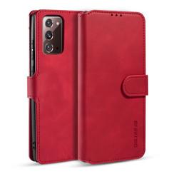 CaseMe - Samsung Galaxy Note 20 Hoesje - Met Magnetische Sluiting - Ming Serie - Leren Book Case - Rood