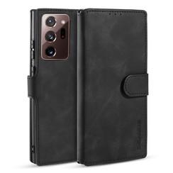 CaseMe - Samsung Galaxy Note 20 Ultra Hoesje - Met Magnetische Sluiting - Ming Serie - Leren Book Case - Zwart