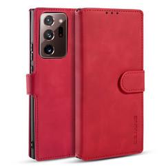 CaseMe - Samsung Galaxy Note 20 Ultra Hoesje - Met Magnetische Sluiting - Ming Serie - Leren Book Case - Rood