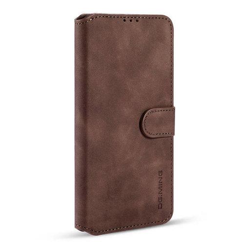 CaseMe CaseMe - iPhone 12 Mini Hoesje - Met Magnetische Sluiting - Ming Serie - Leren Book Case - Donker Bruin