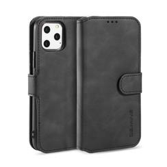 CaseMe - iPhone 12 Pro Max Hoesje - Met Magnetische Sluiting - Ming Serie - Leren Book Case - Zwart