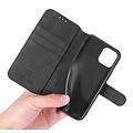 CaseMe CaseMe - iPhone 12 Pro Max Hoesje - Met Magnetische Sluiting - Ming Serie - Leren Book Case - Zwart