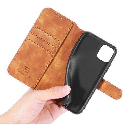 CaseMe CaseMe - iPhone 12 Pro Max Hoesje - Met Magnetische Sluiting - Ming Serie - Leren Book Case - Licht Bruin