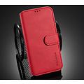 CaseMe CaseMe - iPhone 12 Pro Max Hoesje - Met Magnetische Sluiting - Ming Serie - Leren Book Case - Rood