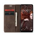 CaseMe CaseMe - Samsung Galaxy A12 Hoesje - Wallet Book Case - Magneetsluiting - Donker Bruin