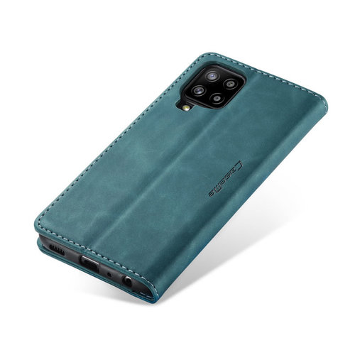 CaseMe CaseMe - Samsung Galaxy A12 Hoesje - Wallet Book Case - Magneetsluiting -Blauw