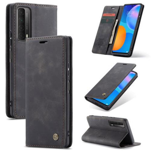 CaseMe CaseMe - Huawei P Smart 2021 Hoesje - Wallet Book Case - Magneetsluiting - Zwart