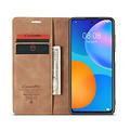 CaseMe CaseMe - Huawei P Smart 2021 Hoesje - Wallet Book Case - Magneetsluiting - Licht bruin