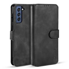 CaseMe - Samsung Galaxy S21 FE Hoesje - Met Magnetische Sluiting - Ming Serie - Leren Book Case - Zwart