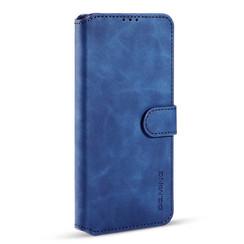 CaseMe - Samsung Galaxy S21 FE Hoesje - Met Magnetische Sluiting - Ming Serie - Leren Book Case - Blauw