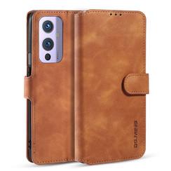 CaseMe - OnePlus 9 Hoesje - Met Magnetische Sluiting - Ming Serie - Leren Book Case - Licht Bruin