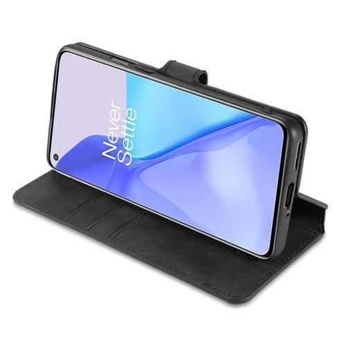 CaseMe CaseMe - OnePlus 9 Hoesje - Met Magnetische Sluiting - Ming Serie - Leren Book Case - Zwart