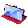 CaseMe CaseMe - OnePlus 9 Hoesje - Met Magnetische Sluiting - Ming Serie - Leren Book Case - Rood