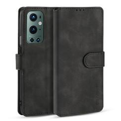 CaseMe - OnePlus 9 Pro Hoesje - Met Magnetische Sluiting - Ming Serie - Leren Book Case - Zwart