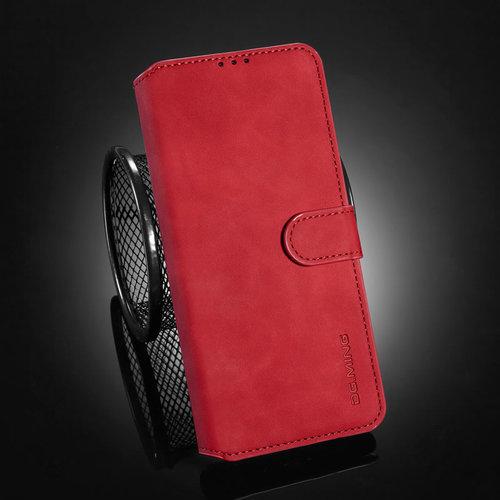 CaseMe CaseMe - OnePlus 9 Pro Hoesje - Met Magnetische Sluiting - Ming Serie - Leren Book Case - Rood