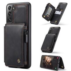 CaseMe - Samsung Galaxy S21 FE Hoesje - Back Cover - met RFID Pasjeshouder - Zwart