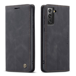 CaseMe - Samsung Galaxy S21 FE Hoesje - Wallet Book Case - Magneetsluiting - Zwart