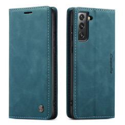CaseMe - Samsung Galaxy S21 FE Hoesje - Wallet Book Case - Magneetsluiting - Blauw