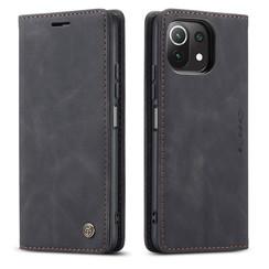 CaseMe - Xiaomi Mi 11 Lite Hoesje - Wallet Book Case - Magneetsluiting - Zwart