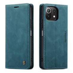 CaseMe - Xiaomi Mi 11 Lite Hoesje - Wallet Book Case - Magneetsluiting - Blauw