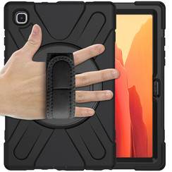 Samsung Galaxy Tab A7 (2020) hoes - 10.4 inch - Hand Strap Armor Case - Zwart