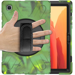 Samsung Galaxy Tab A7 (2020) hoes - 10.4 inch - Hand Strap Armor Case - Camouflage