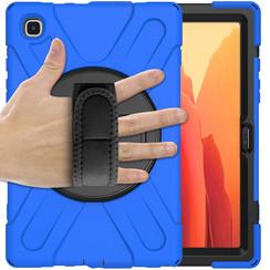 Samsung Galaxy Tab A7 (2020) hoes - 10.4 inch - Hand Strap Armor Case - Blauw