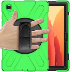 Samsung Galaxy Tab A7 (2020) hoes - 10.4 inch - Hand Strap Armor Case - Groen