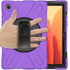 Samsung Galaxy Tab A7 (2020) hoes - 10.4 inch - Hand Strap Armor Case - Paars
